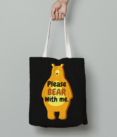 Please tote bag front