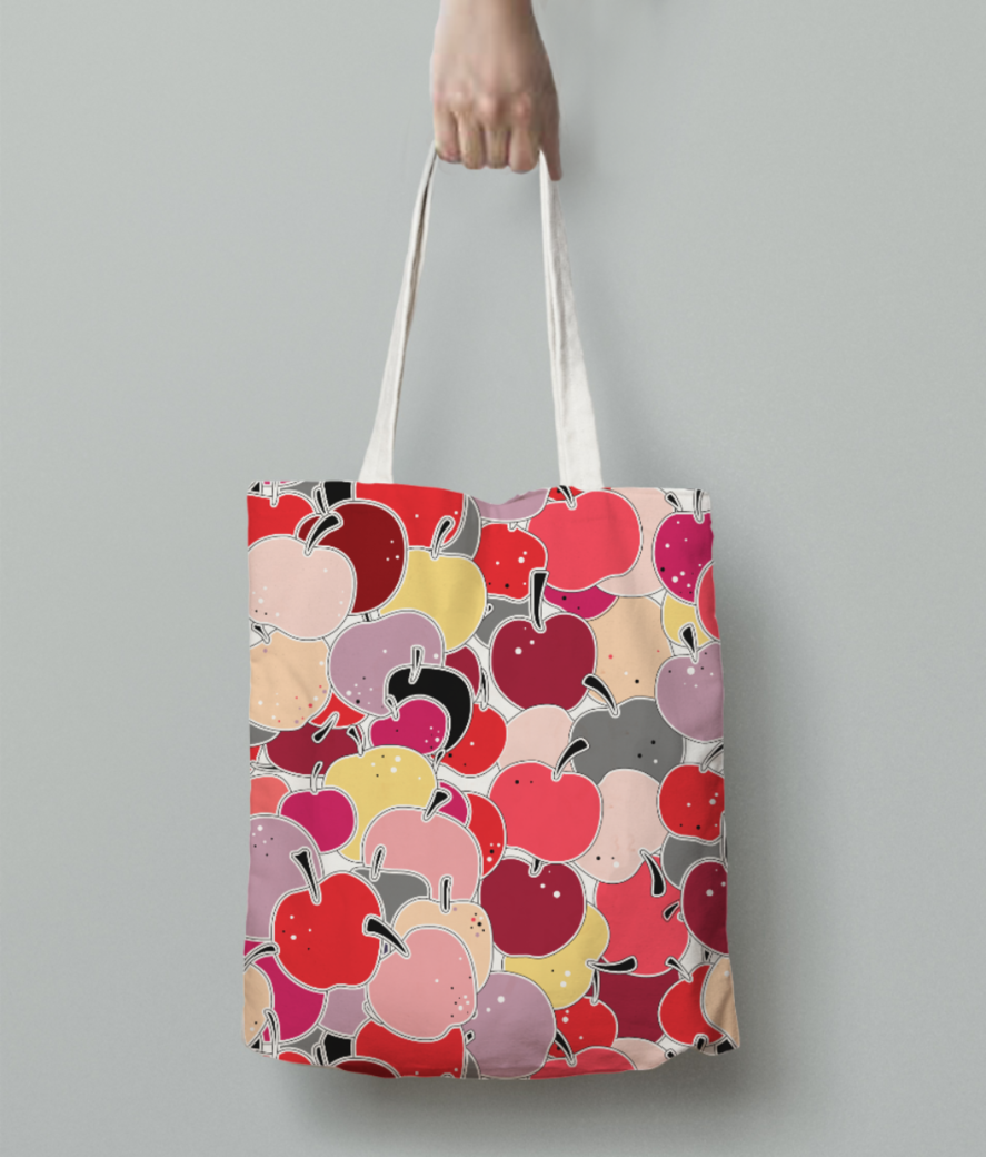 Applelicious tote bag back
