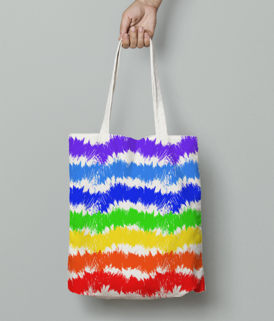 Rainbow tote bag front