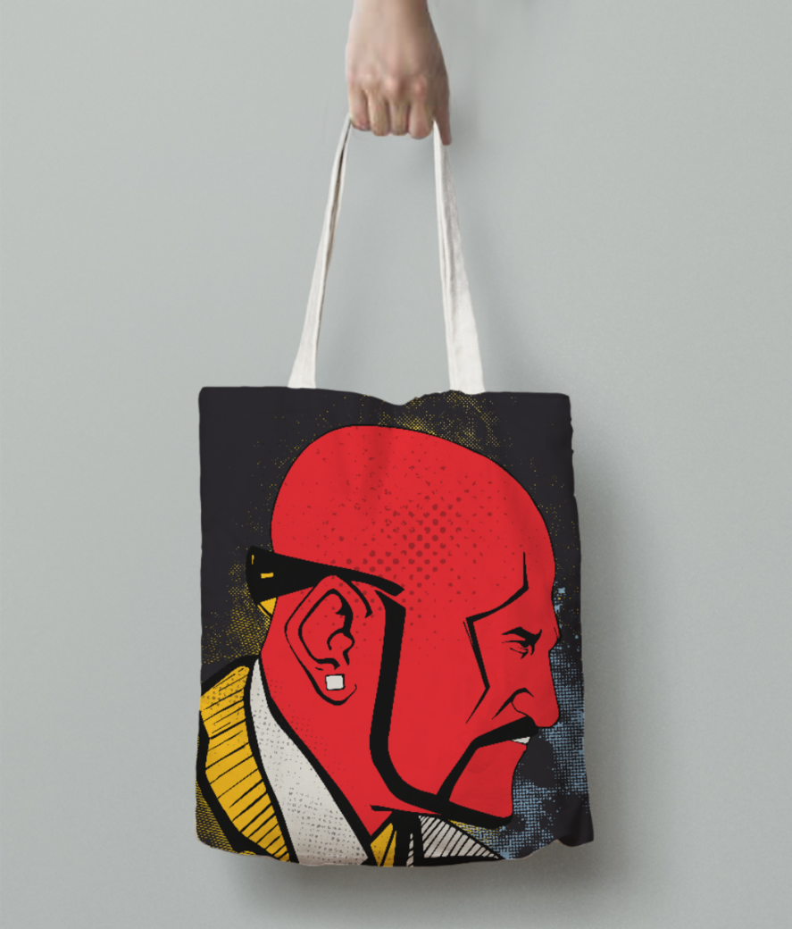 Theboss tote bag back