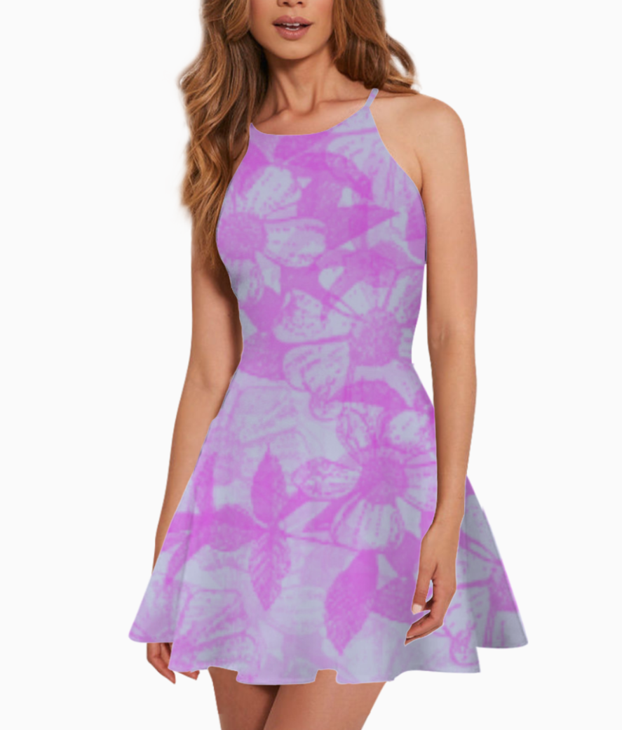 Flower summer dress front
