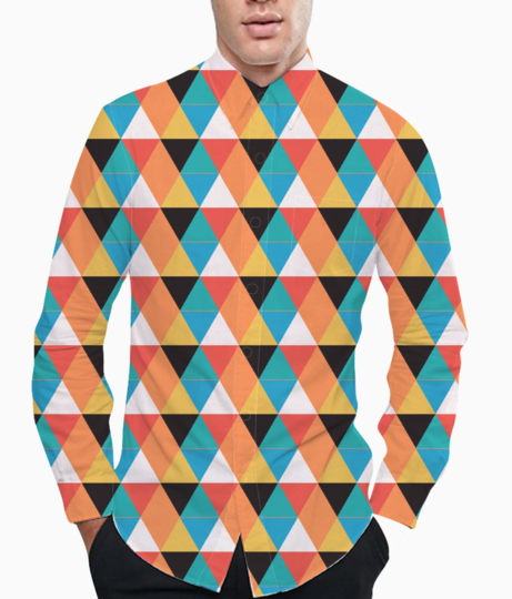 Multicolour triangle basic shirt front