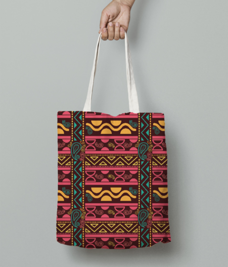 Aztec tribal tote bag front