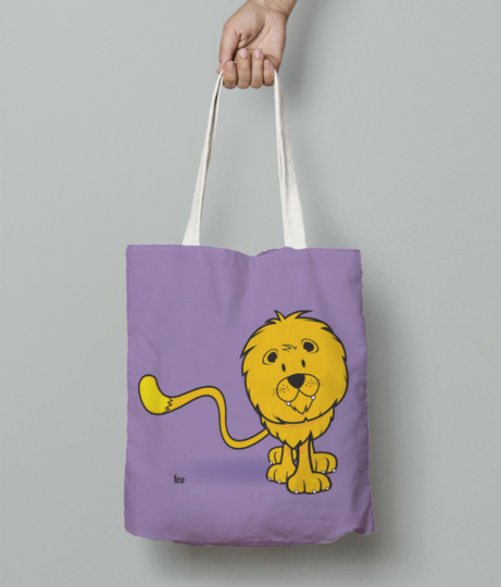 Leo tote bag front