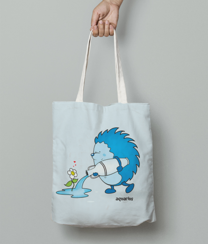 Aquarius tote bag front