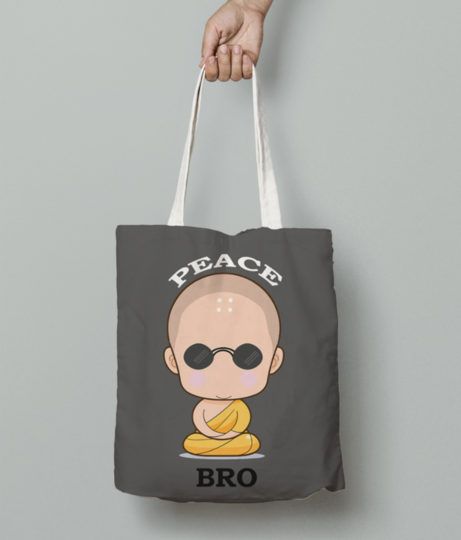 Peace bro tote bag front