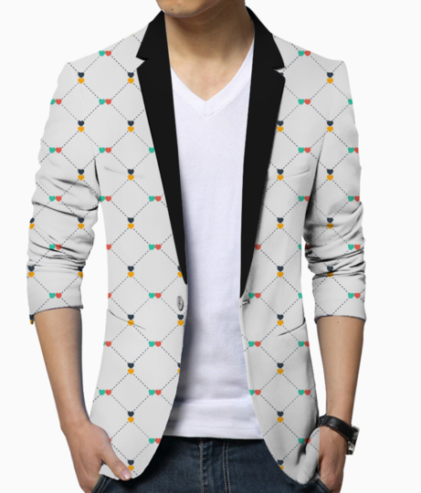 Hearts  dotted lines blazer front