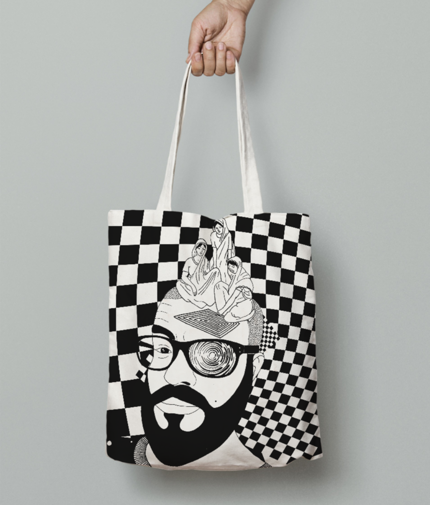 Selfcheck tote bag front