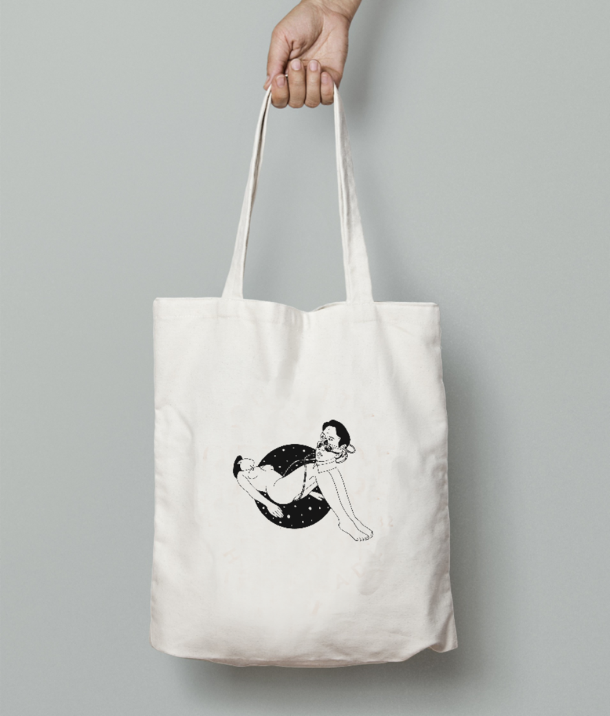 Tubes tote bag front