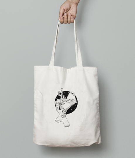 Feet tote bag front