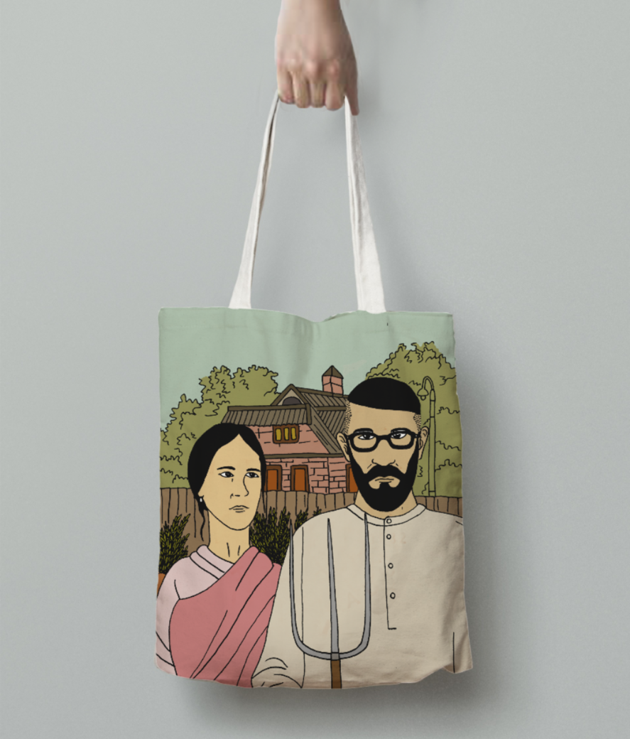 Indiangothic tote bag back