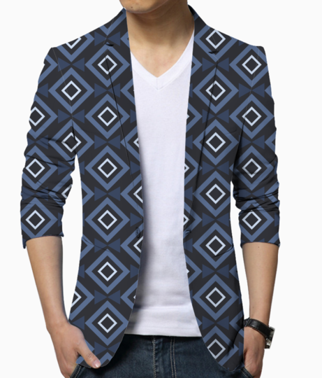 Rectangle and triangle blazer front