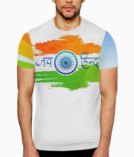 Depositphotos 164247946 stock illustration indian flag with hindi text editfdfdsfs t shirt front