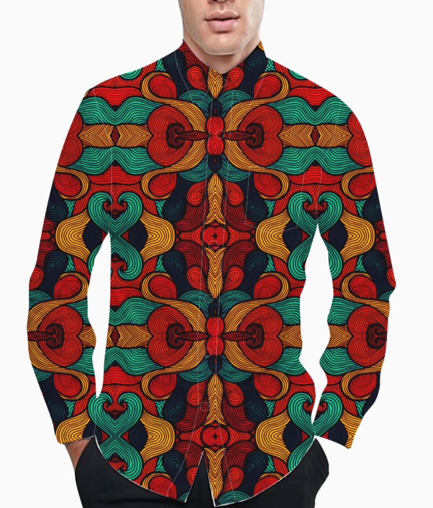 Psychedelic basic shirt front