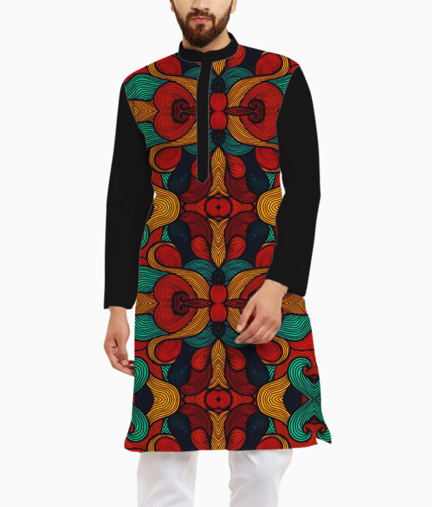 Psychedelic kurta front