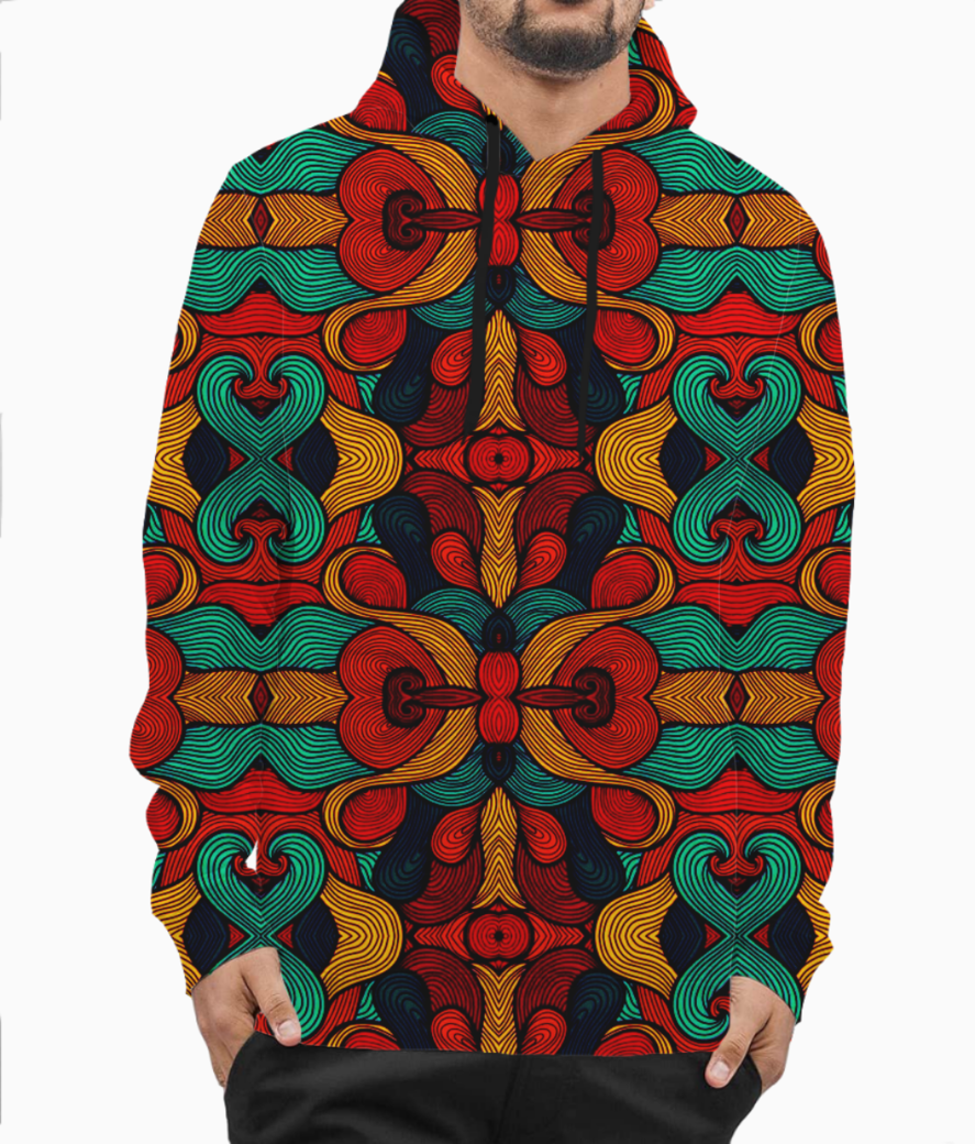 Psychedelic hoodie front