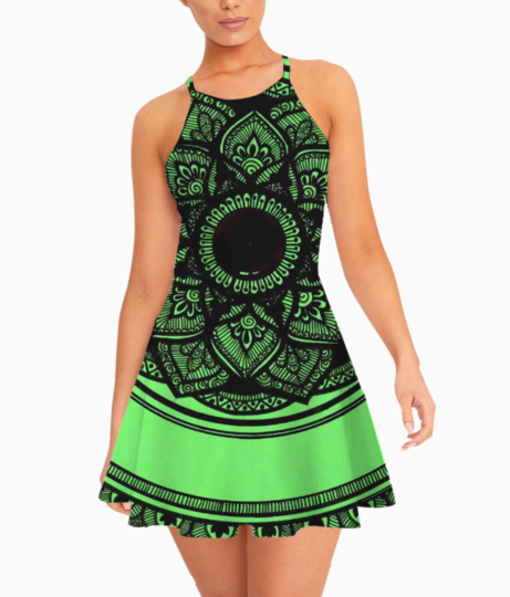 Greeen summer dress front