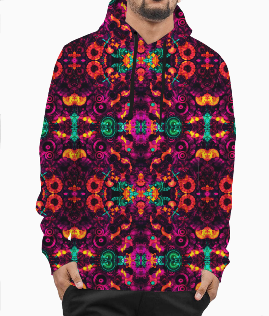 Abstraction hoodie front