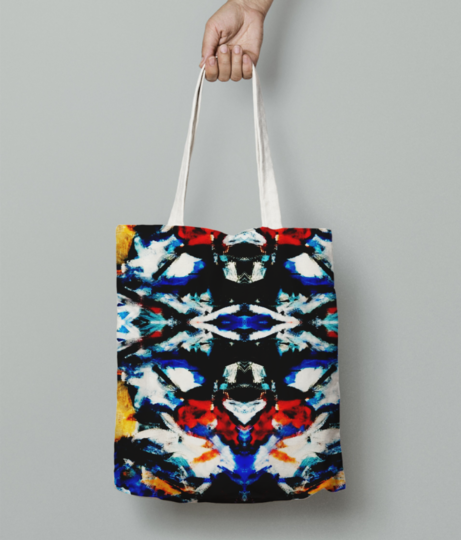 Abstract art tote bag front