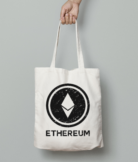 Ethereum tote bag front