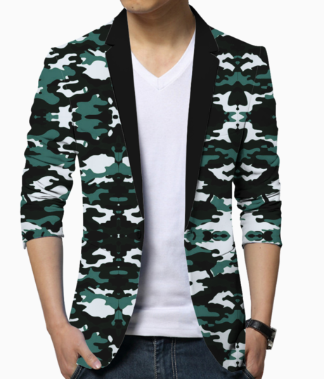 Abstract camo blazer front