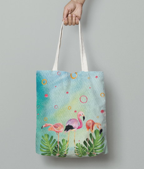 Flamingo party tote bag front