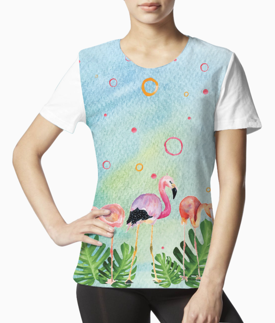 Flamingo party tee front