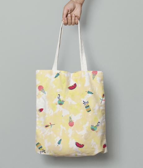 Summery yummery tote bag front