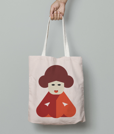 Chinese women tote bag front