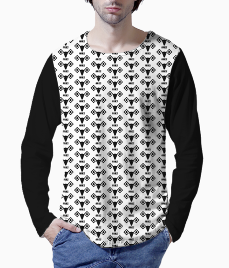 Aries astrology pattern henley front