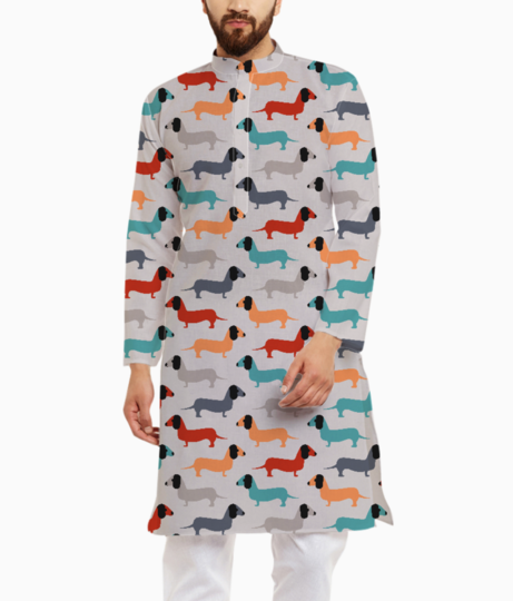Dog fabric kurta front