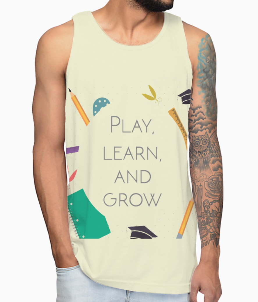 Play  learn   grow kurta vest front