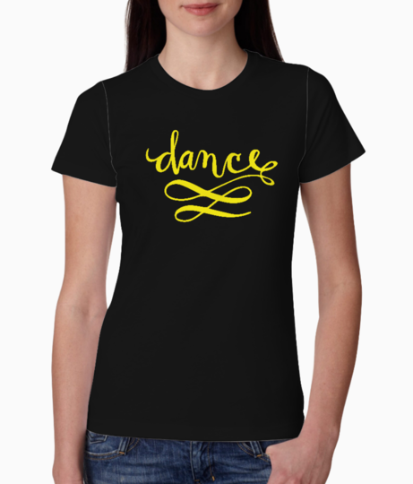 Dance yellow tee front