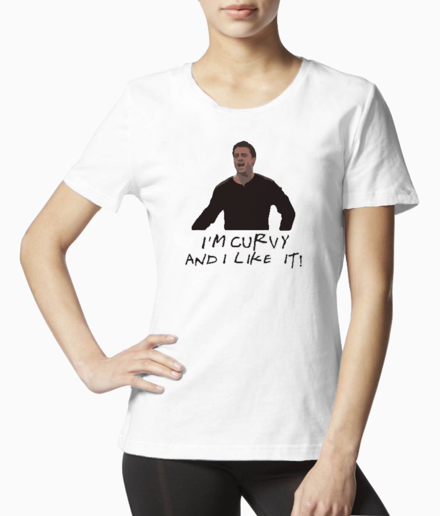 Im curvy and i like it tee front