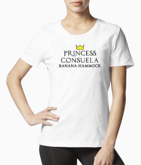 Princess consuela black tee front