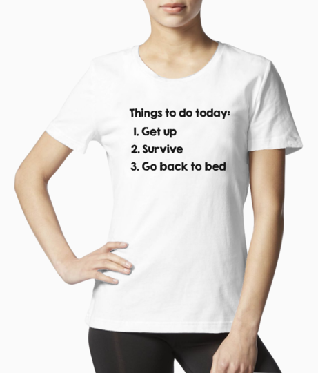 Things to do tee front