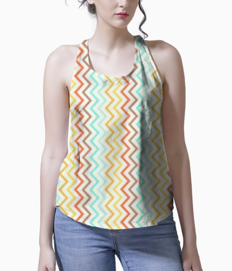 Mini zig zag stripes fabric michael miller retro 183960 2 tank front