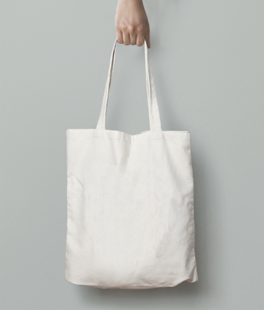 Electricity tote bag back