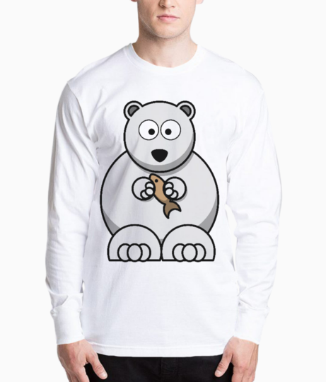 White bear cousin henley front
