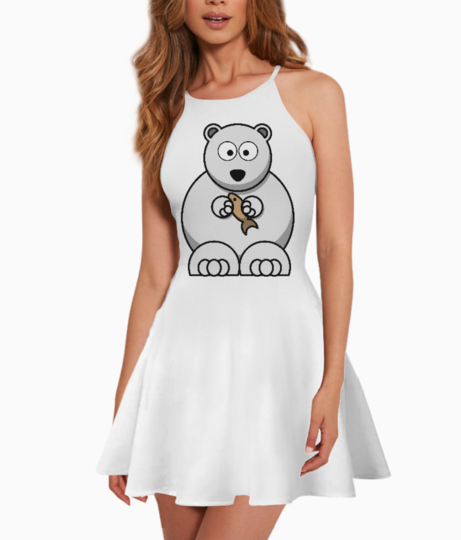 White bear cousin summer dress front