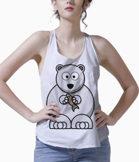 White bear cousin tank front