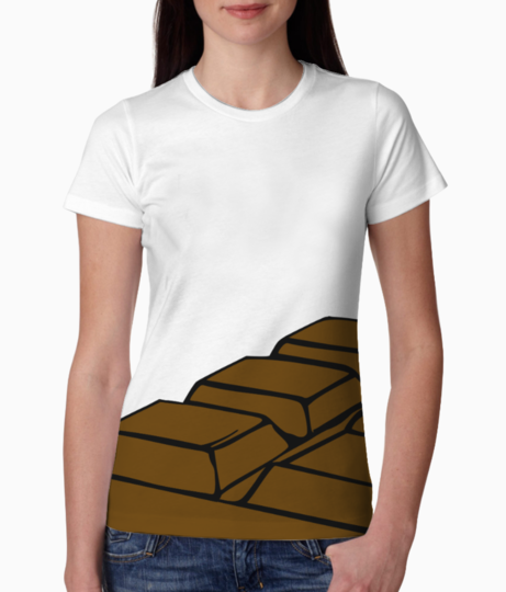 Chocolate clipart cartoon 7 tee front