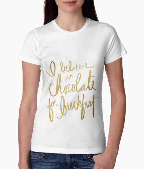 Motivational quotes chocolate always tee front