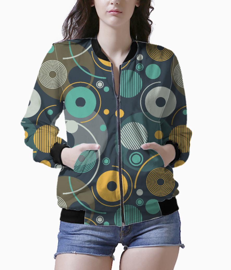 Rounded shapes bomber front