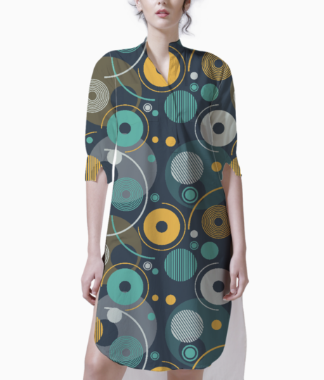 Rounded shapes kurti front
