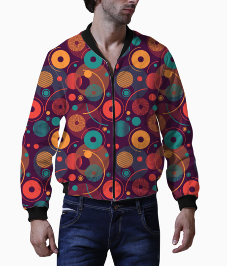 Colorful rounded shapes bomber front
