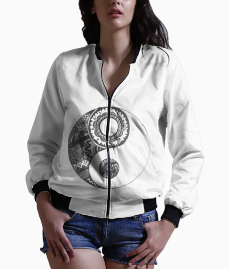 Yin and yang bomber front