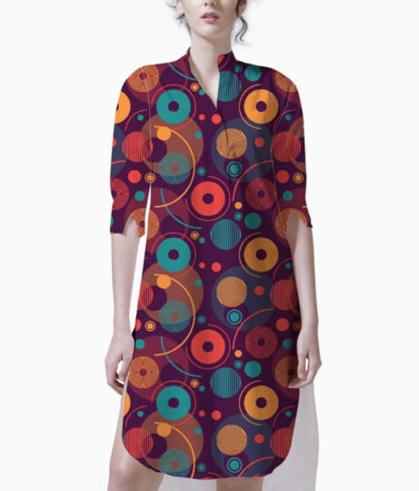 Colorful rounded shapes kurti front