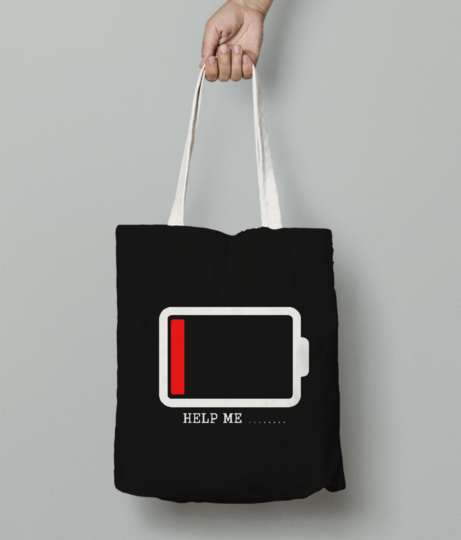 Helpme tote bag front