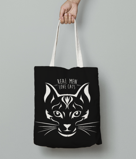 Love cats tote bag front